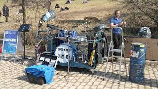 Oded Kafri (Drummer)= live @Mauerpark Berlin