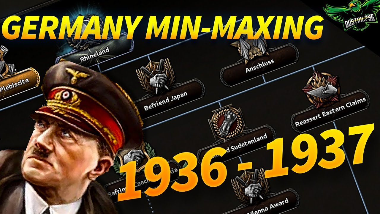 HOI4 Min-Maxing Germany 1936 - 1937 The Rhineland Strategy (1933 Start Date  with Expert AI)