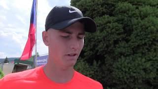 Dominik Langmajer po prohře v 1. kole na turnaji Futures v Ústí n. O.