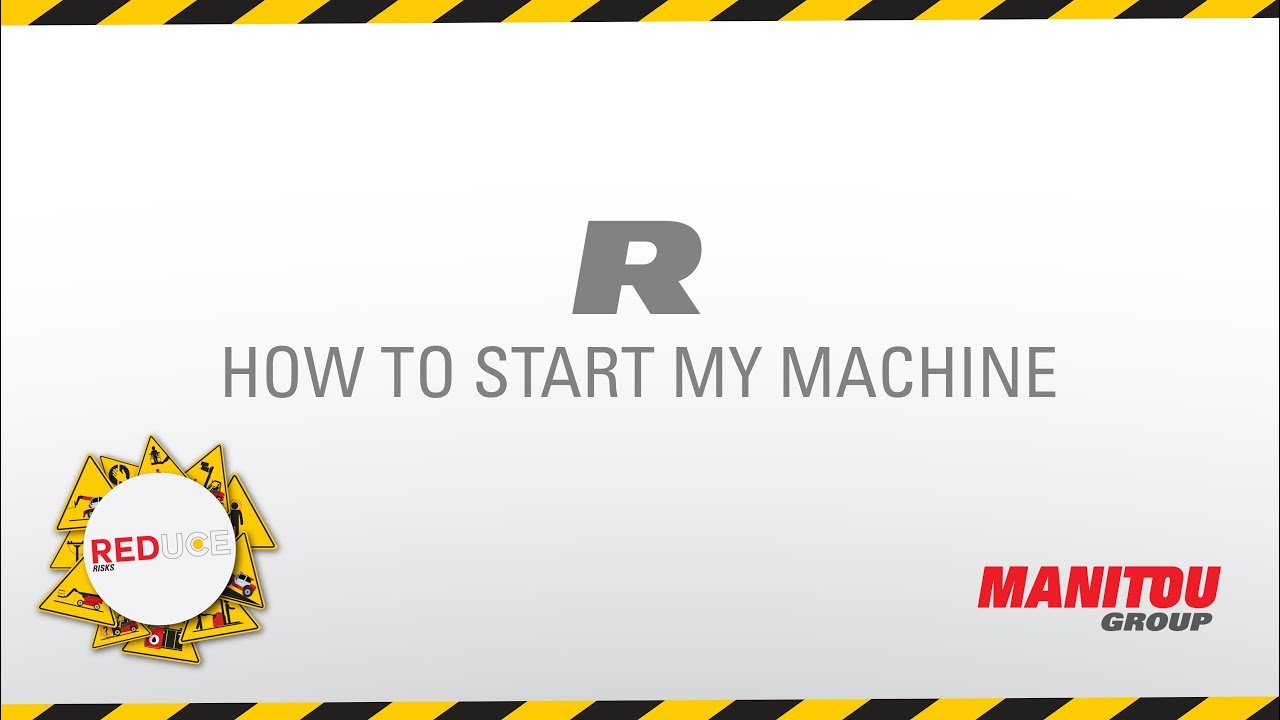 Gehl - Skid loader - R165 - How To Start My Machine
