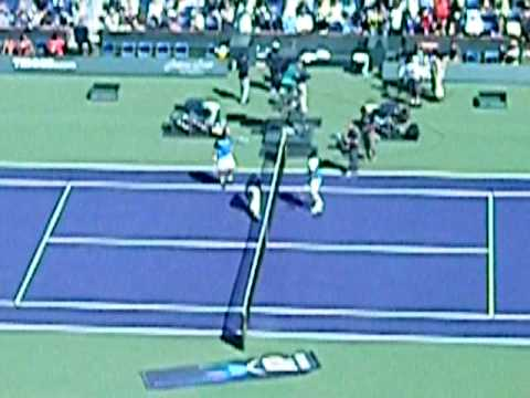 Coin toss and Rafa Nadal sprint at BNP Paribas Open Finals 2009