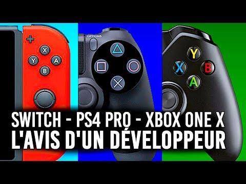 PS4 PRO, XBOX ONE X, NINTENDO SWITCH : l'avis d'un développeur...