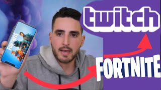 How to Stream Fortnite on iPhone X 2018 to twitch or YouTube