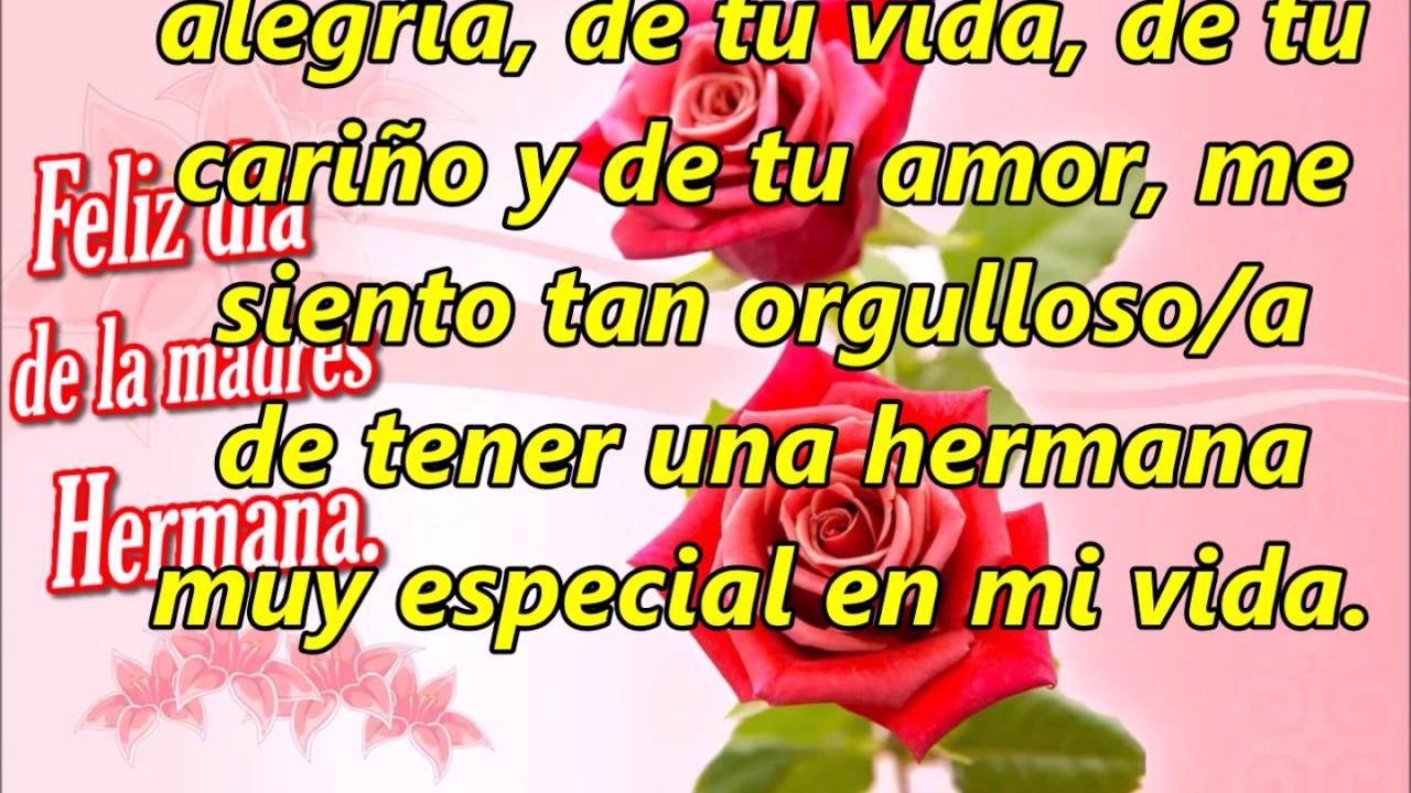 Feliz Dia De Las Madres Hermana Tqm Youtube