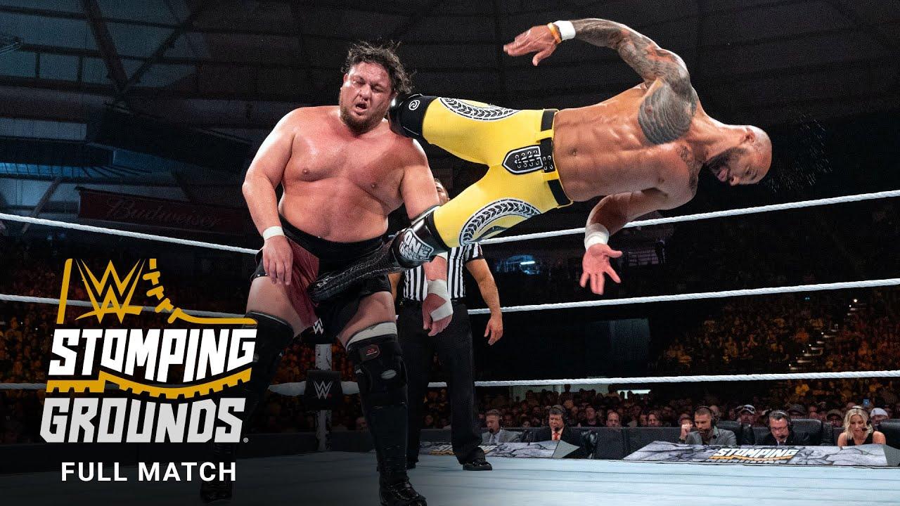 Download FULL MATCH - Samoa Joe vs. Ricochet – United States Title Match: WWE Stomping Grounds 2019