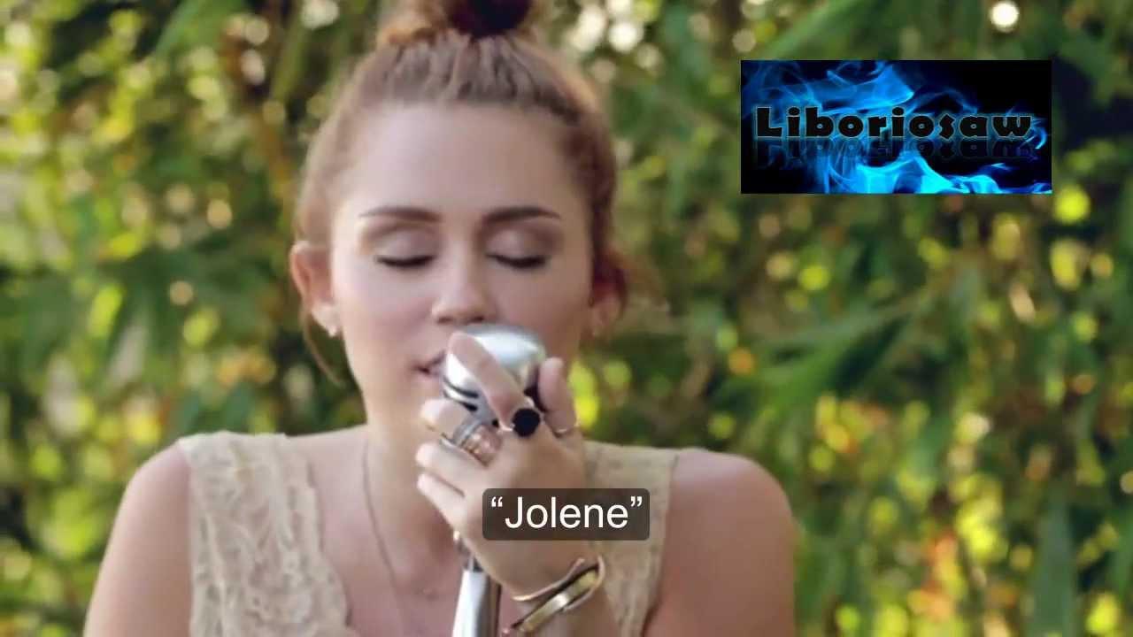 miley cyrus jolene traducida al español official music video