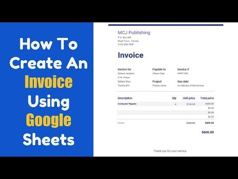 how to create an invoice in google sheets youtube