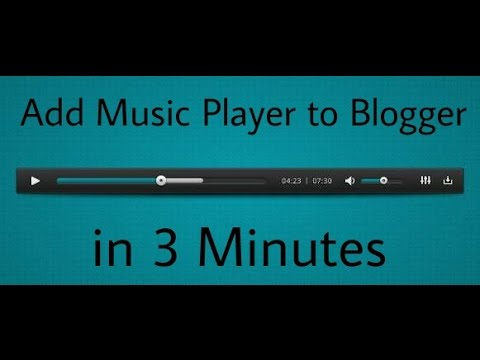 How to Add Elegant Music Player to Blogger
