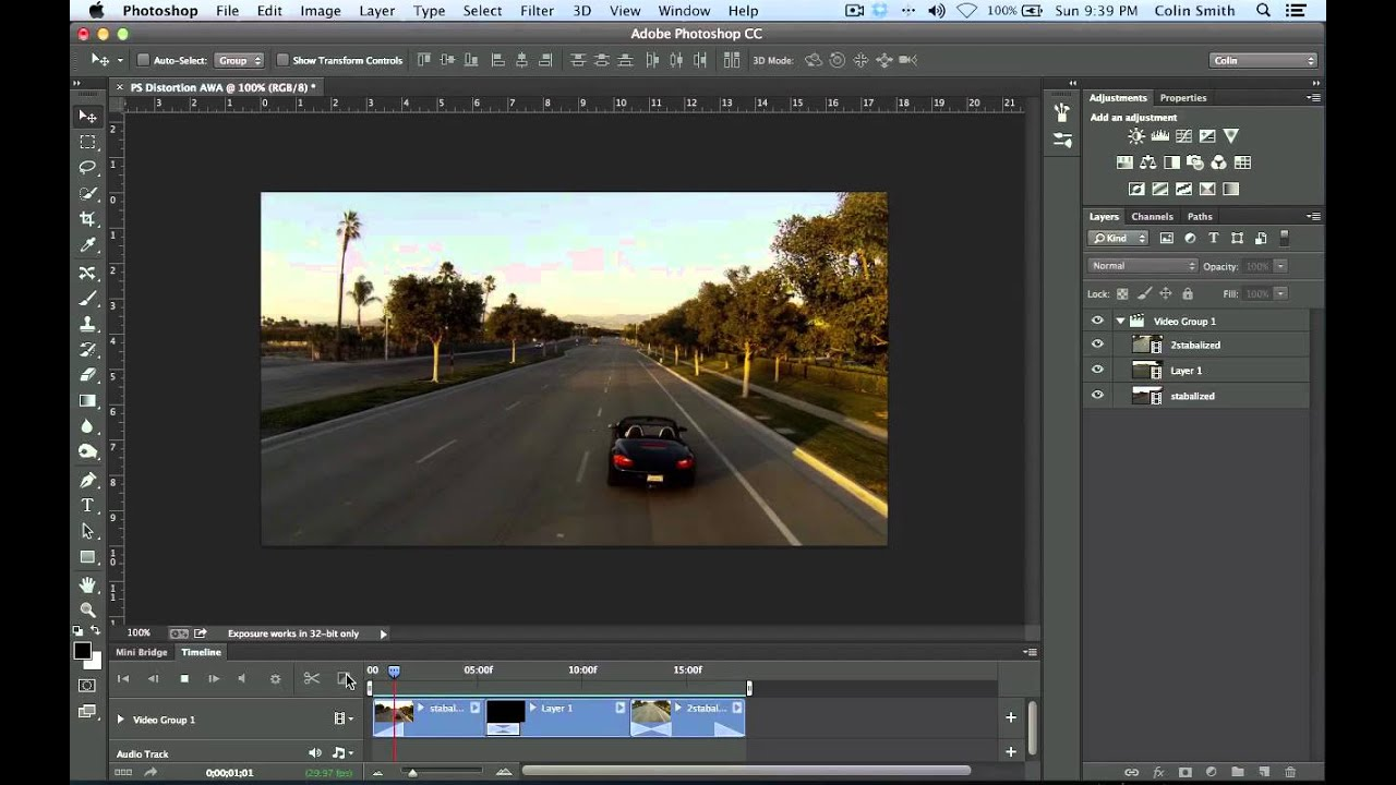 How to edit video in photoshop cc and cs6 the basics photoshop how to edit video in photoshop cc and cs6 the basics photoshop tutorial youtube baditri Images