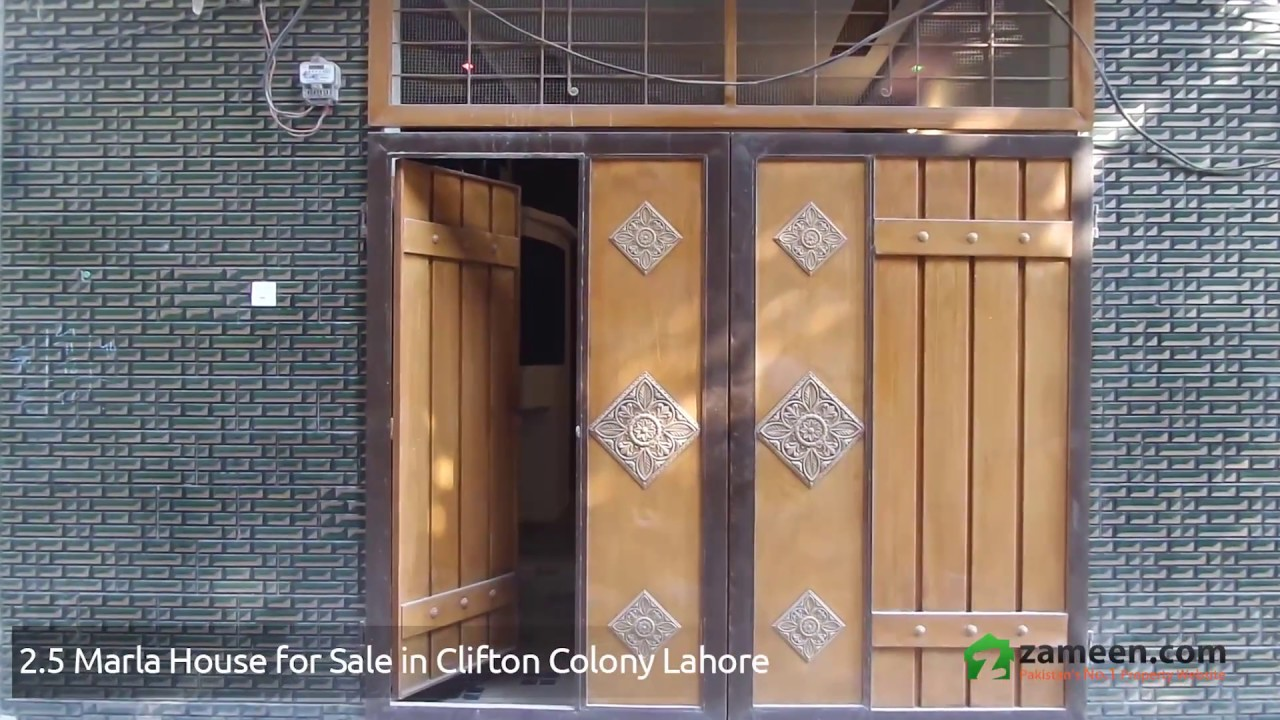 A WELL-BUILT 2 5 MARLA DOUBLE UNIT HOUSE IS AVAILABLE FOR SALE IN CLIFTON  COLONY LAHORE