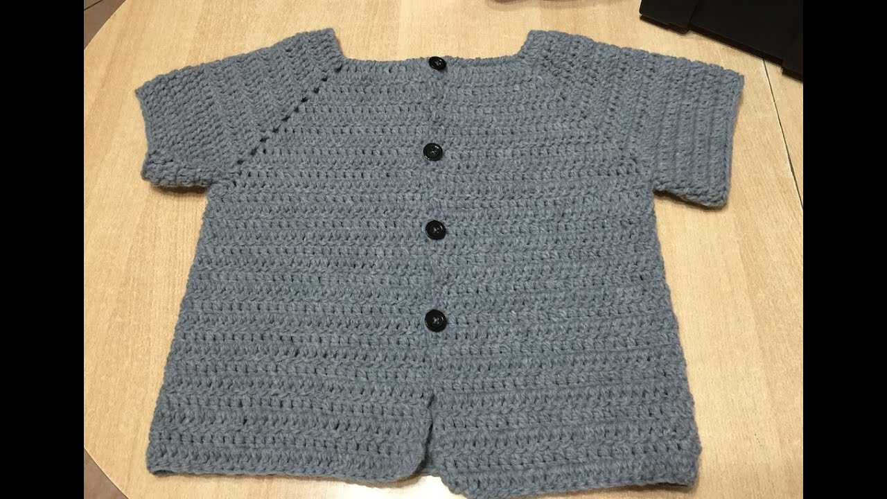 Turbo Tuto veste, gilet tous age au crochet - YouTube CY25