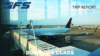 TRIP REPORT | Delta Airlines - Boeing 767 - New York (JFK) to Seattle (SEA) | Business Class
