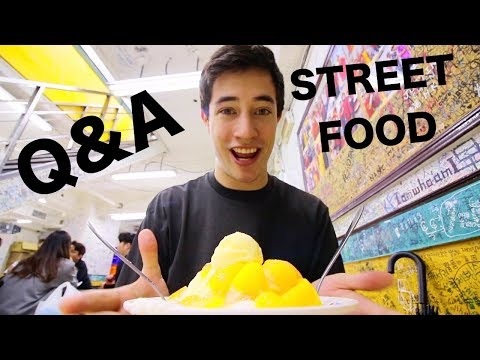 TAIWAN STREET FOOD tour in Taipei! MANGO ICE + Q&A (EXTREMELY Local Taiwanese Street Food in Taipei)