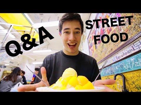 TAIWAN STREET FOOD tour in Taipei! MANGO ICE + Q&A (EXTREMELY Local Taiwanese Street Food in Taipei)