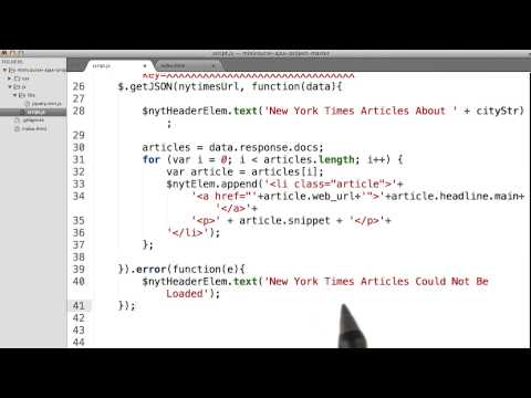 Error Handling with NY Times - Intro to AJAX