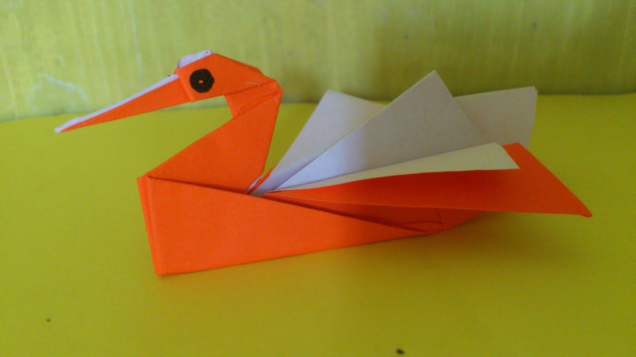 Cara Membuat Origami Angsa | Origami Binatang - YouTube