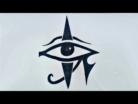 Evil Eye Tribal Tattoo !! How to draw Illuminati Eye Tattoo drawing
