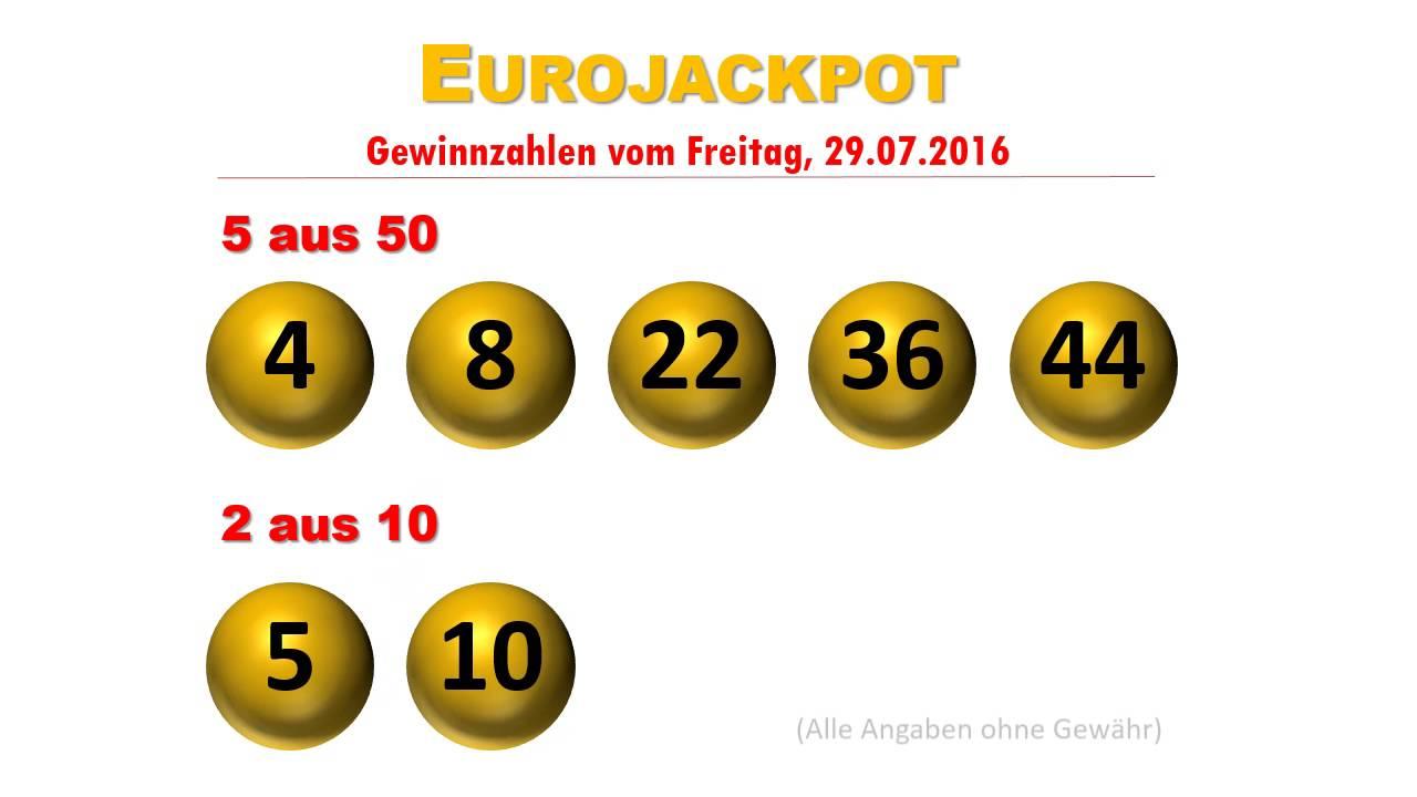 Eurojackpot Gewinnzahlen überprüfen