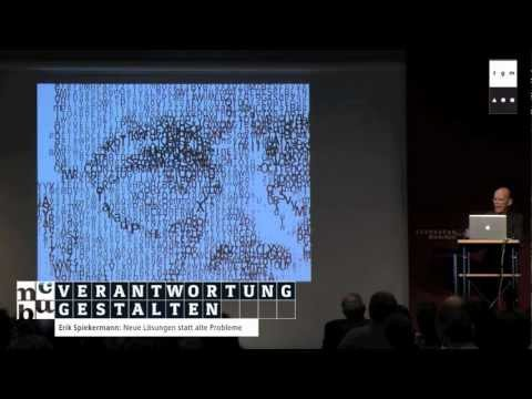 Erik Spiekermann -- Neue Lösungen statt alte Probleme | Von der Umgestaltung des Denkens