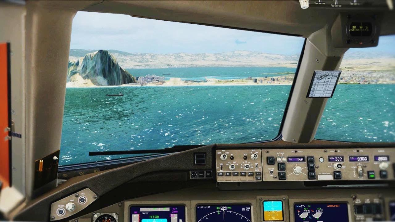 A380 Wallpaper Hd Boeing 777 Cockpit Visual Manual Landing Gibraltar Hd