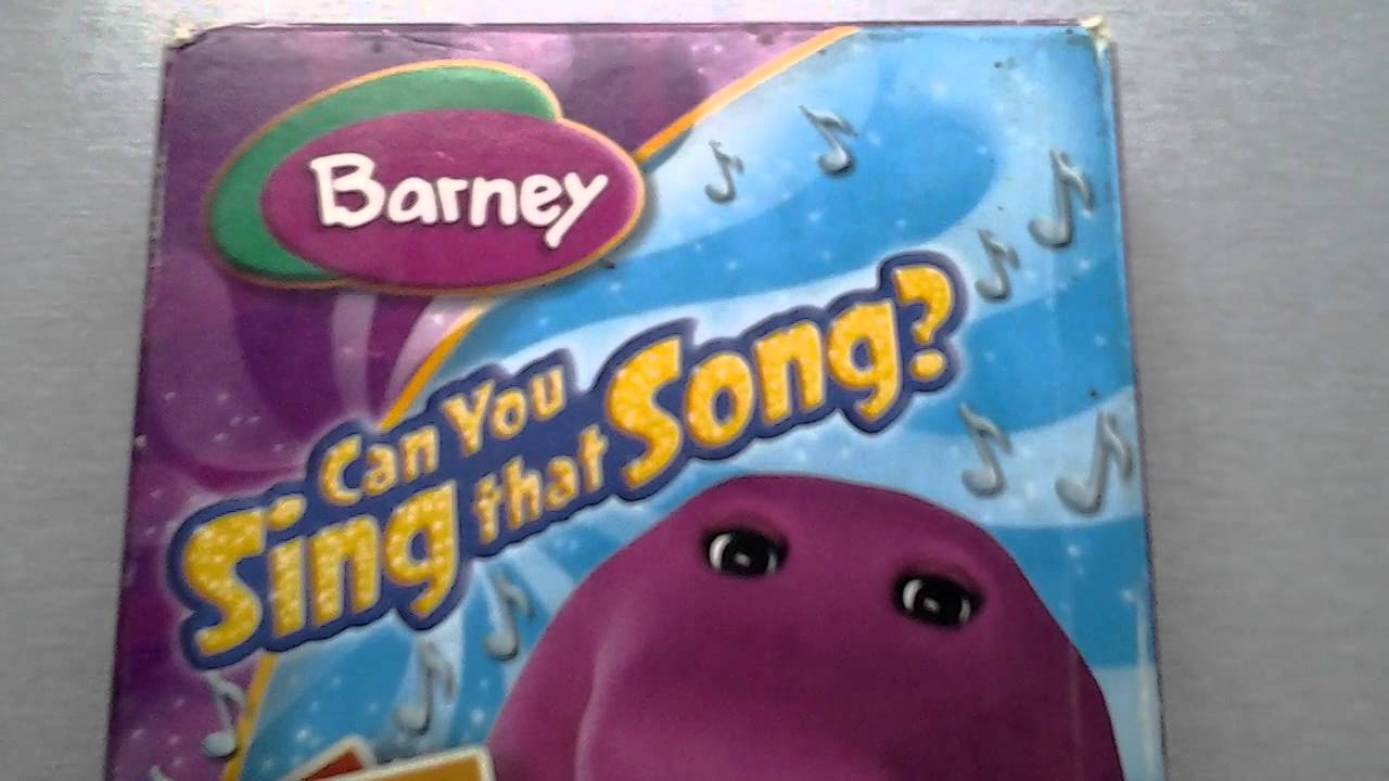 barney video can you sing that song hit edition vhs youtube. Black Bedroom Furniture Sets. Home Design Ideas