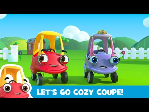 Oh no, Firetruck's Stuck in the River! Cozy Coupe - Cartoons for Kids