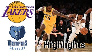 Lakers vs Grizzlies HIGHLIGHTS Full Game | NBA January 3