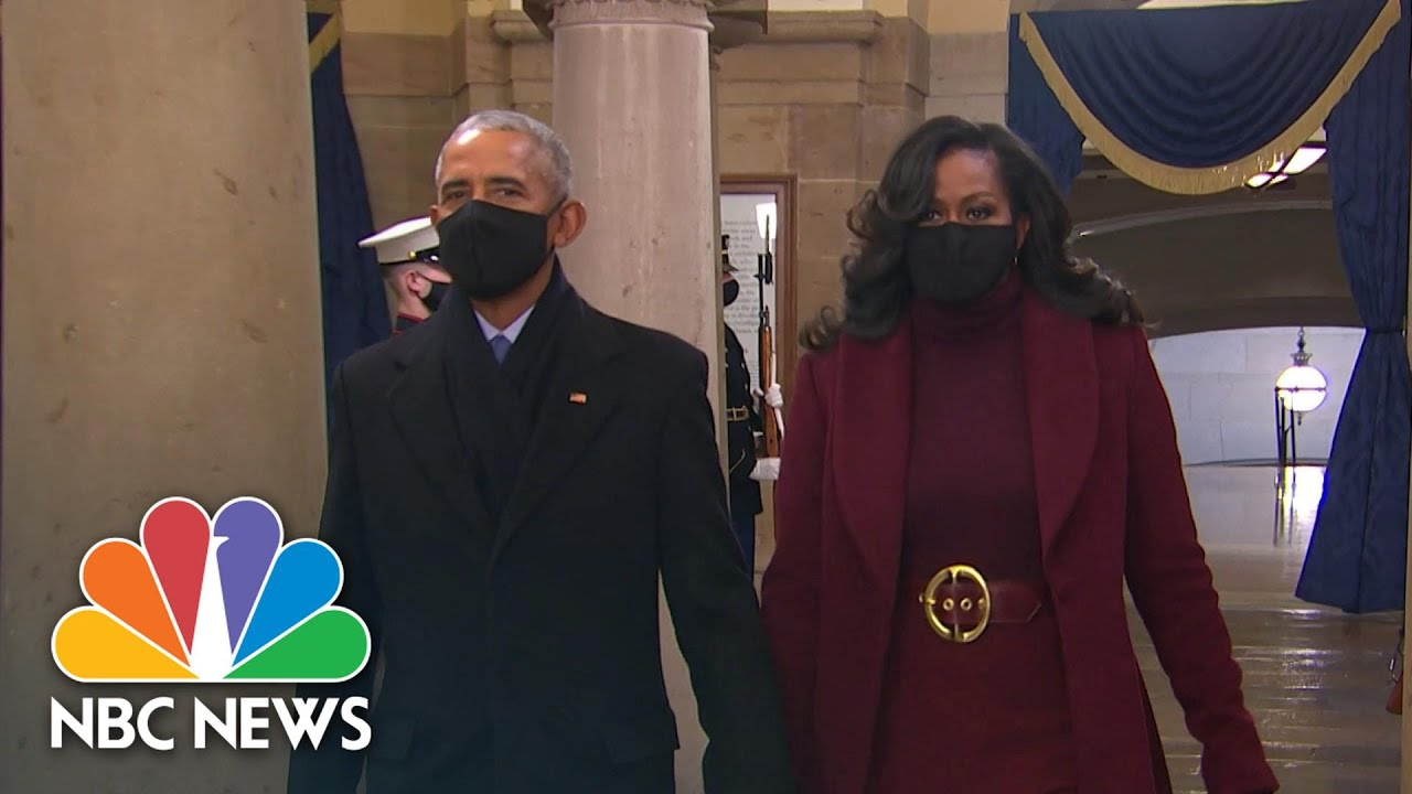 Download Clintons, Bushes, Obamas Arrive At Biden's Inauguration Ceremony | NBC News