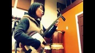 Min'yo channel 1010: ZENI FUKI UTA (shamisen=niagari) ふなかた節 秋...