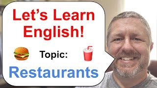 Let's Learn English! Topic: Restaurants! 🍔