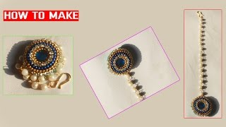 How to make Silk Thread Bridal Maang Tikka |Papidi billa| at Home