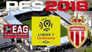 Pes 2017 - 2017-18 ligue 1 - guingamp vs monaco