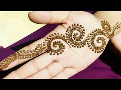 Simple Mehndi Design For Hands For Beginners Latest Easy Mehndi