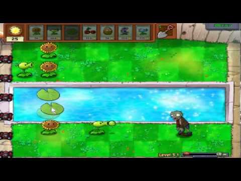 Plants vs zombies (Trồng cây bắn zombie) - Cấp độ 3-1 (Game Việt Hóa)