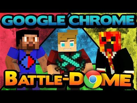 Minecraft Google Chrome-Dome Tri-Battledome - You Flying Gurl! w/ Lachlan & Friends