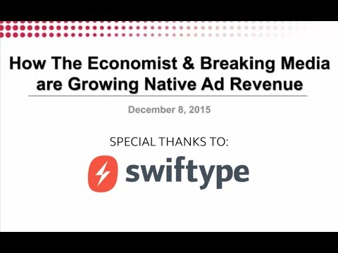 How The Economist & Breaking Media are Growing Native Ad Revenue
