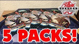 OPENING 5 PACKS OF BAKUGAN CARDS! | GREAT PULLS! | Bakugan Battle Planet