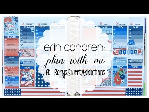 Erin Condren   Plan with Me ft. RorysSweetAddictions