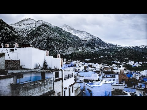 It is snowing in Africa   The Blue City, Morocco Cinematic Vlogs  