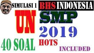 Download Video pembahasan soal SIMULASI  UN UNBK BAHASA INDONESIA, smp 2019 PAKET 1, 50 SOAL KOMPLIT MP3 3GP MP4