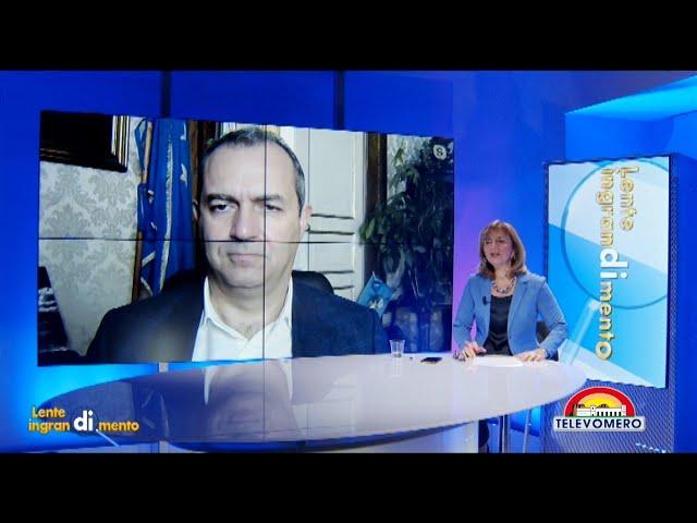 LENTE DI INGRANDIMENTO CON IL SINDACO DI NAPOLI LUIGI DE MAGISTRIS 16 DICEMBRE 2020