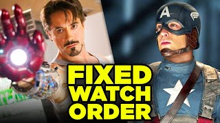 MCU BEST WATCH ORDER? We Fixed Marvel's Timeline!