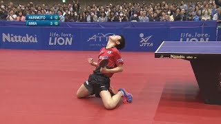 【ダイジェスト】アジアカップ 男子シングルス5・6位決定戦 張本智和vs丹羽孝希