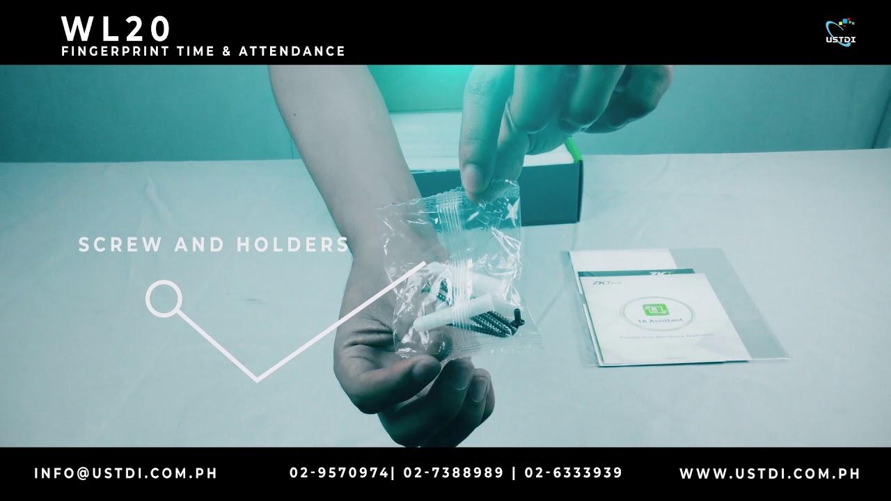 Unboxing of WL20 Fingerprint Time & Attendance Device | ZKTECO | USTDI