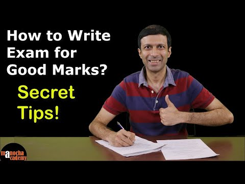 How to Write Exam for Good Marks