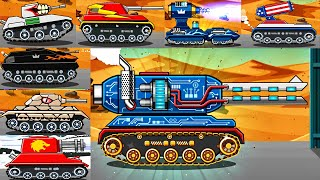 2 VS 2 MODE ALL TANKS and Coloring Tanks | Hills of Steel Game for Kids