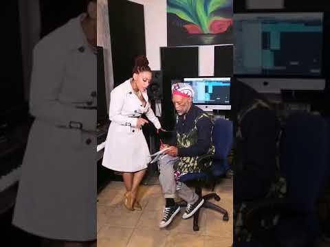 Letoya Makhene and Blondie Makhene in Studio making Qinisela