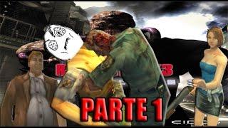 """Resident Evil 3 (D.Loquendo)  (Parte 1) """"El gordo cagon y Brad en apuros"""""""