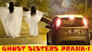 REAL GHOST SISTERS PRANK (BEST FUNNY SCARY HILARIOUS) *PAPACRAZY