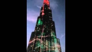 Burj Khalifa LED illumination